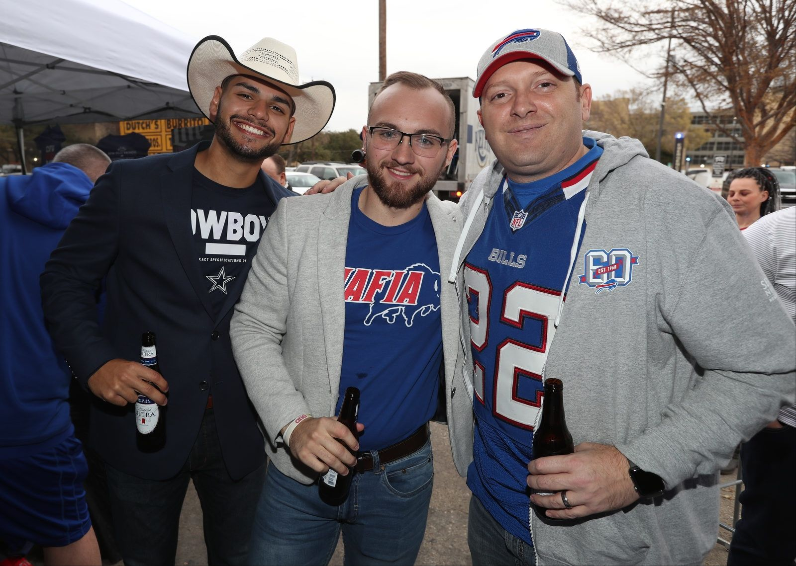 Over 700 Buffalo Bills fans packed the bar and patio area for the Dallas Backers party at Buffalo Bros in Fort Worth, Texas, on Wednesday, Nov. 27, 2019.