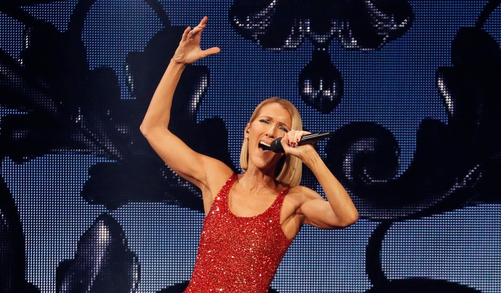 Celine Dion performs at KeyBank Center.