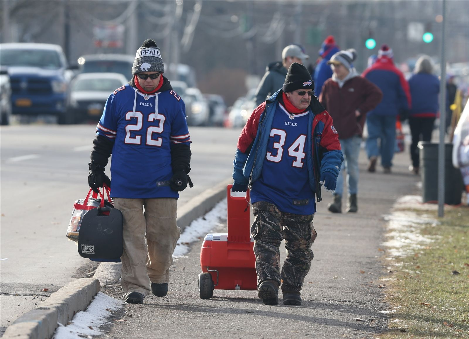Buffalo Bills fans before the game against the Baltimore Ravens at New Era Field in Orchard Park, N.Y., on Sunday, Dec. 8, 2019.
