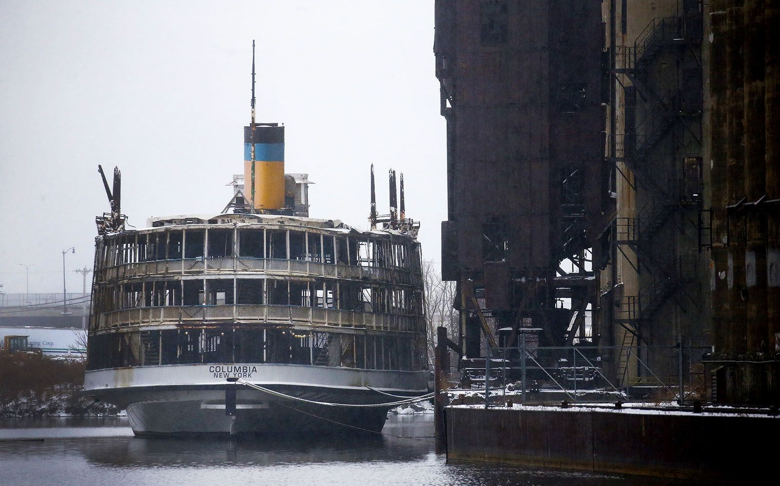 Day 364: Dec. 30, 2019 - The 115-year-old SS Columbia, a three-deck steamboat, transported passengers a quarter-century ago between Detroit and an amusement park in Canada, sits docked on the Buffalo River.