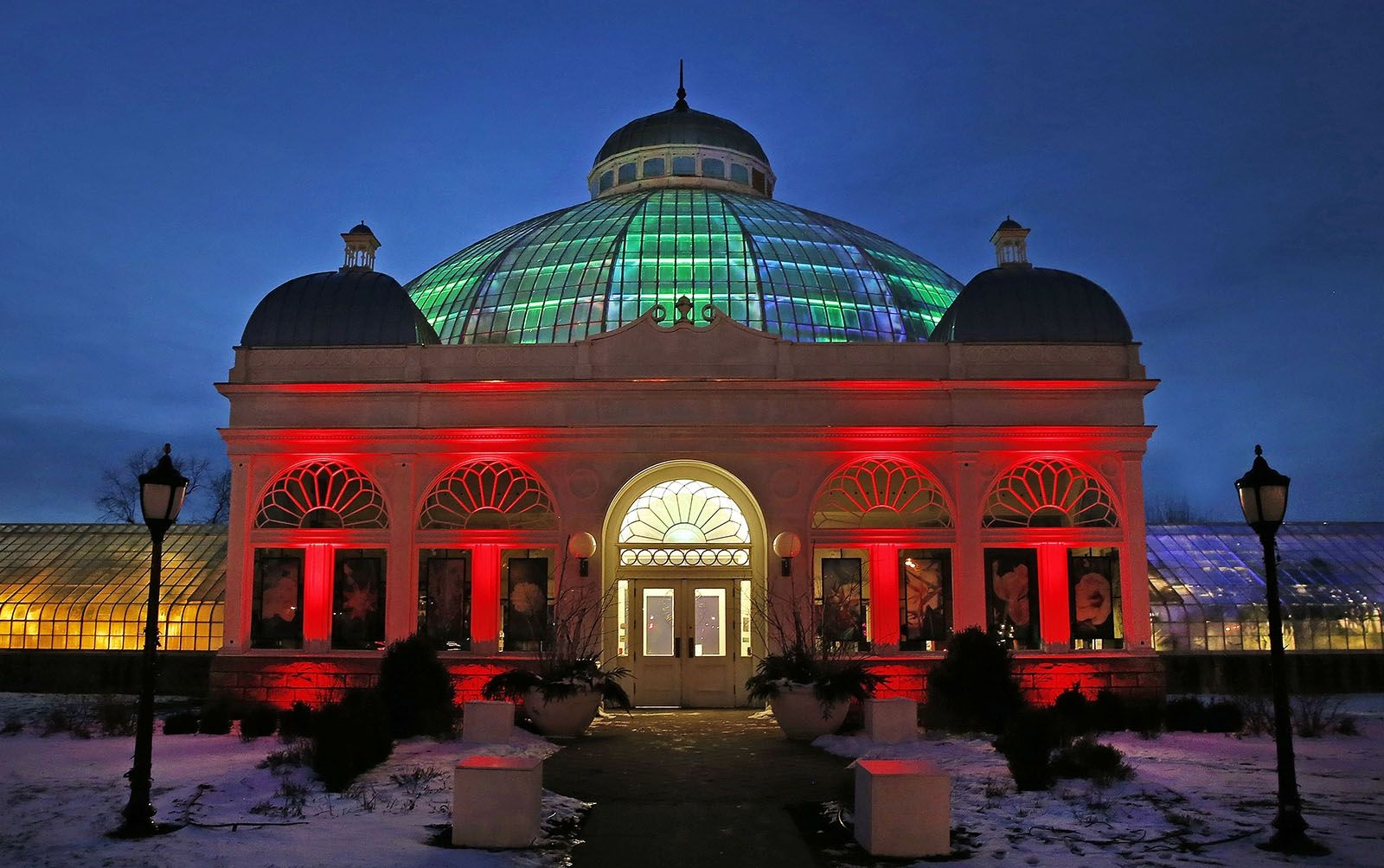 Day 24: Jan. 24, 2020 - The Erie County Botanical Gardens comes alive with light and color as the Lumagination experience opens on January 25 in South Buffalo.
